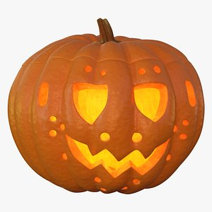 3D model jack o lantern pumpkin