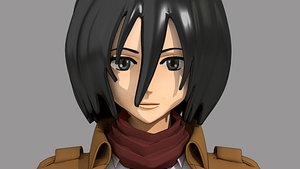 3D Mikasa Ackerman