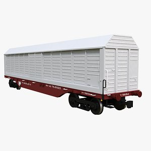 Cargo Railroad Car 3D model