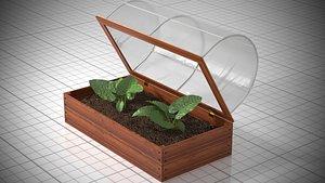 3D model Miniature greenhouse