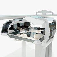 Sci-Fi Sky Train Concept - Futuristic Railway Station
