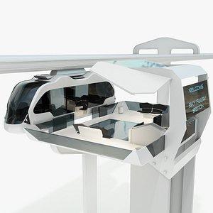 train concept sci 3D model