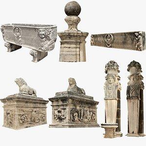 3D Rome Garden Sculpture Pack