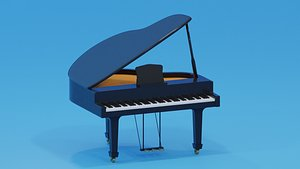 piano musical instrument 3D model