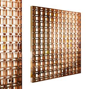Decorative partition set 107 3D