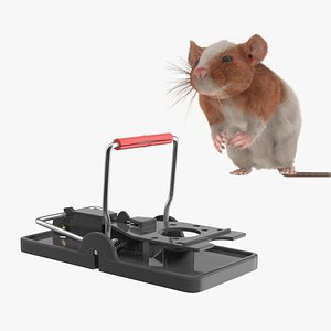 Rat with Trigger Trap Collection 3D model