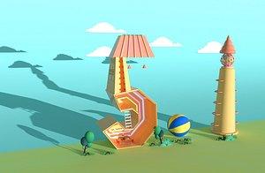 Cartoon building model