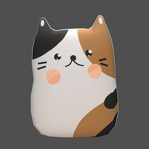 3D plush cat model