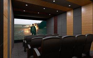 room home theater design 3D model