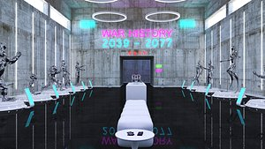 3D model Cyberpunk Museum