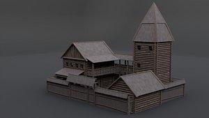 medieval mansion model