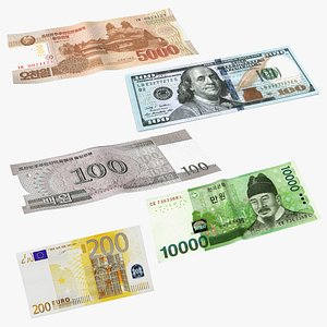 Paper Banknotes Collection 2 3D model