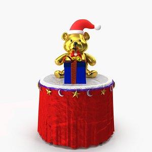 christmas bear gift 3D model