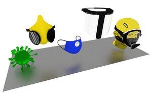 3D mask virus model