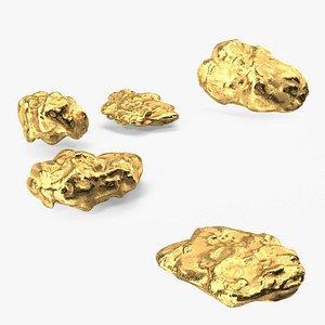Metallic Gold Small Minerals model