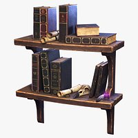 Stylized Book Shelf