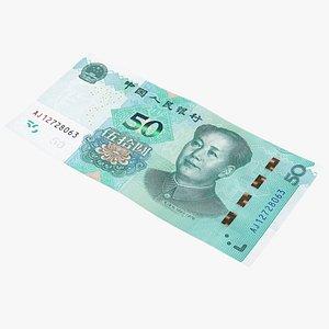 3D Chinese 50 Yuan 2019 Banknote