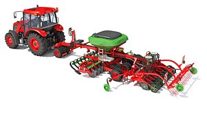 Tractor with  Seed Drill 44