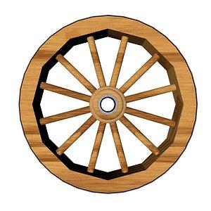 3D wooden wheel