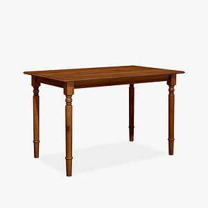 3D Wood Classic Dining Table model