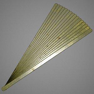 hacksaw blades 3D model