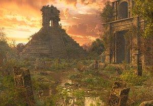 Fantasy Pyramid Ruins Environment 3D