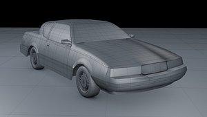 3D Mercury Cougar 1988 model