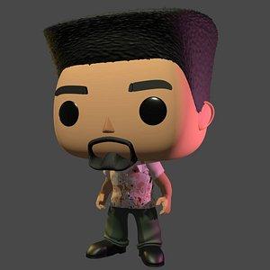 diy custom pop beard 3D