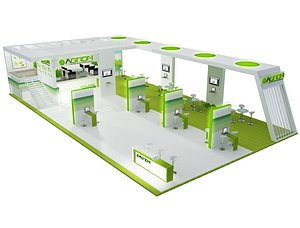 Booth Exhibition Stand a448a 3D