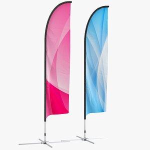 flag banner 3D model