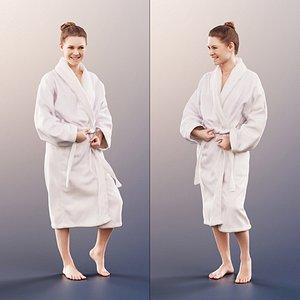 woman bathrobe bath 3D model