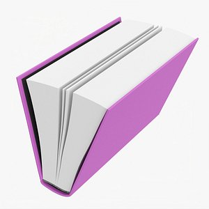 Open book mockup 06 3D model