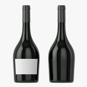 3D Wine bottle mockup 12