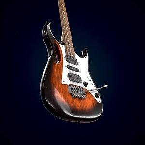 3D Electric guitar Homage HEG-380
