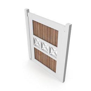3D model garden door