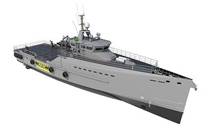 FAST CREW SUPPLIER VESSEL 4008 PATROL 3D model