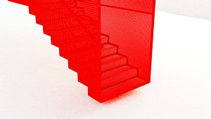 Hanging Red Staircase model