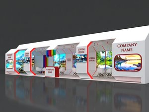 booth exhibit stand model