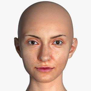 3D head human real model