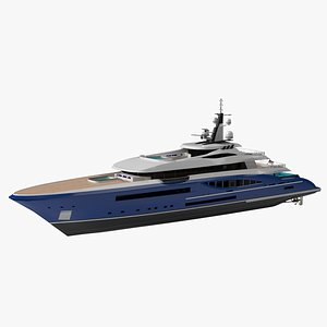 Griffin66 Luxury Yacht Dynamic Simulation 3D model