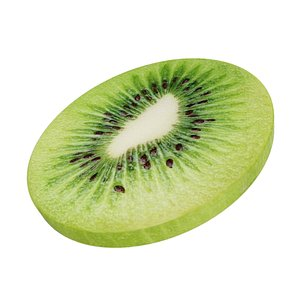 3D model kiwi slice peeled