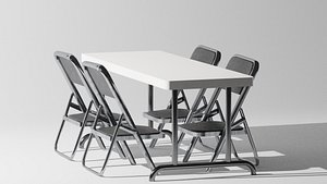 table and chairs model