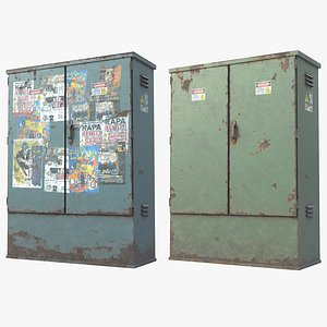 Electric Utility Boxes UHD 3D model