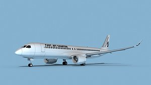 Airbus A220-300 Fast Jet Charter model