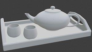 3D teapot set model
