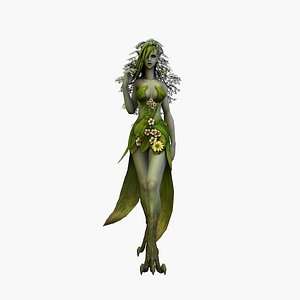 3D dryad rigged model