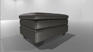 3D ar gleason chair ottoman model