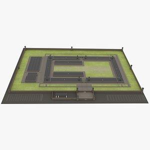 PrisonwithInterior(1) 3D model