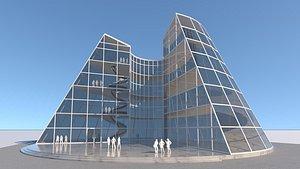 future building 2 exterior-interior 3D