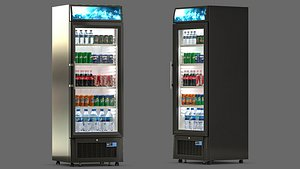 Fridge with Drinks 3D model